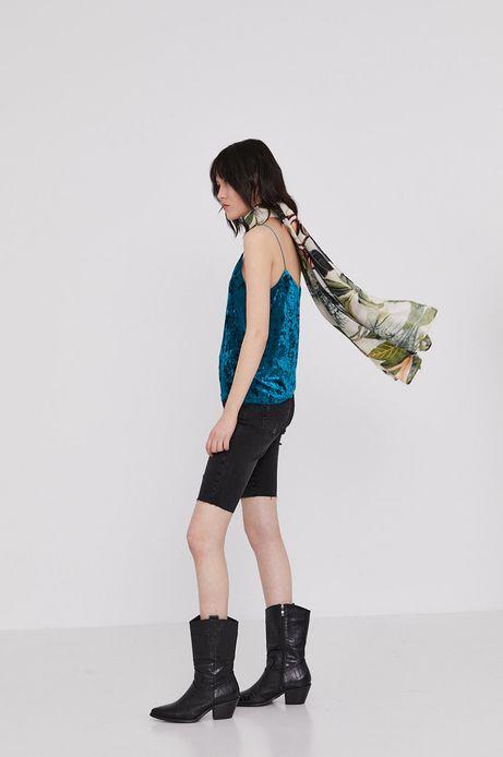 Top damski na ramiączkach turkusowy