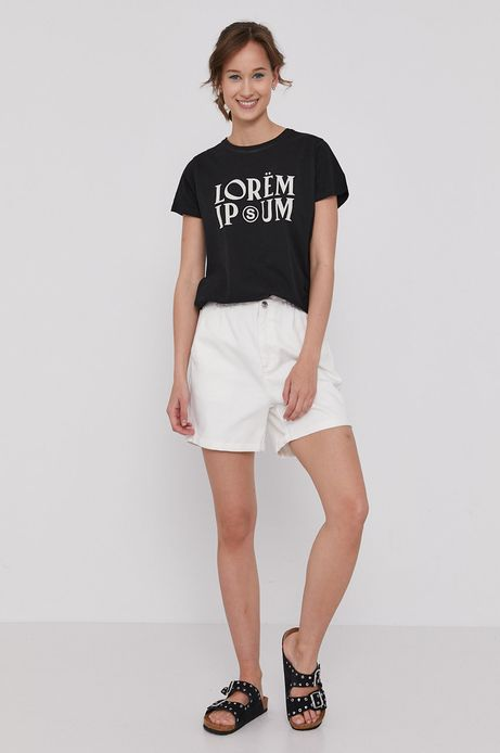 T-shirt damski z bawełny organicznej by Bartek Bojarczuk czarny