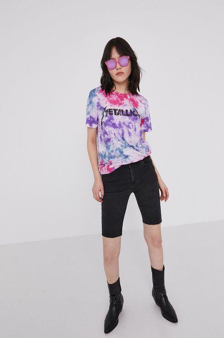 T-shirt damski z nadrukiem Metallica