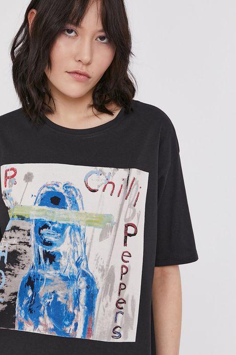 T-shirt damski z nadrukiem Red Hot Chili Peppers szary