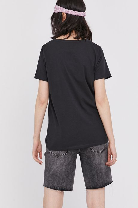 T-shirt damski z nadrukiem Led Zeppelin szary