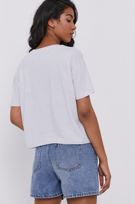 T-shirt damski z nadrukiem niebieski