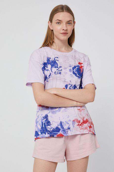 T-shirt damski oversize różowy
