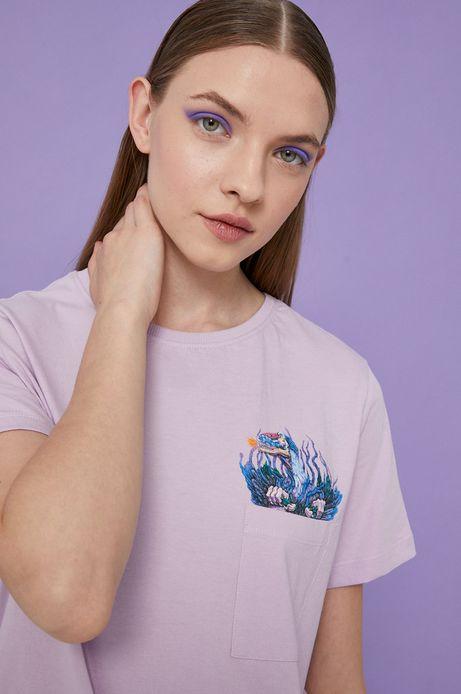 T-shirt damski by Alek Morawski różowy