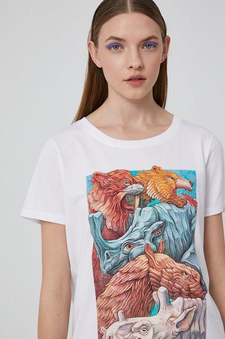 T-shirt damski by Alek Morawski biały