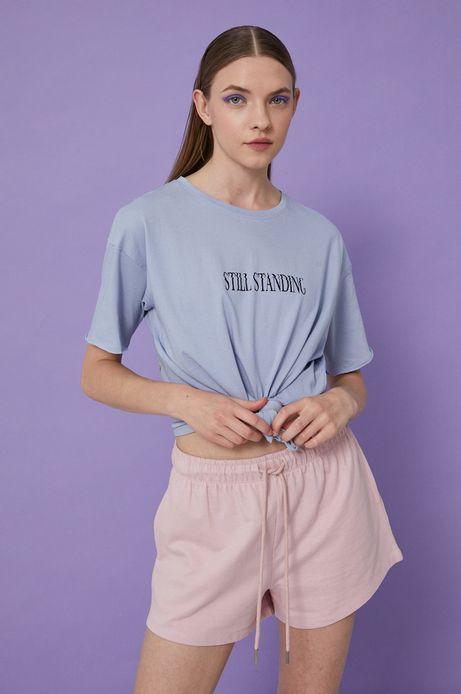 T-shirt damski by Alek Morawski niebieski
