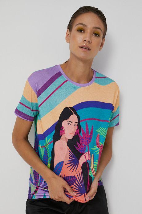 T-shirt damski wzorzysty