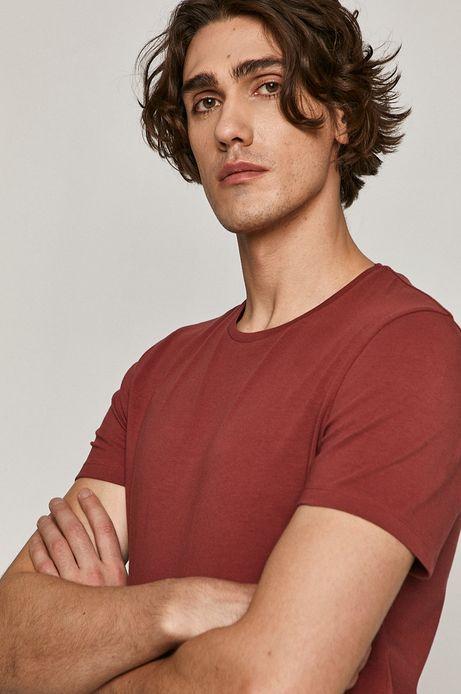 T-shirt męski Basic fioletowy