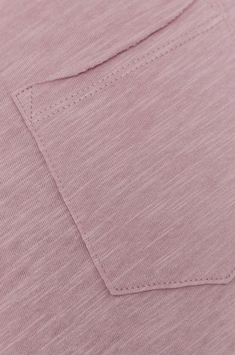 Bawełniany t-shirt męski z kieszonką fioletowy