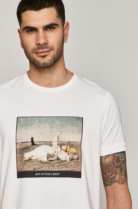 T-shirt męski z kolekcji EVIVA L'ARTE z bawełny organicznej biały