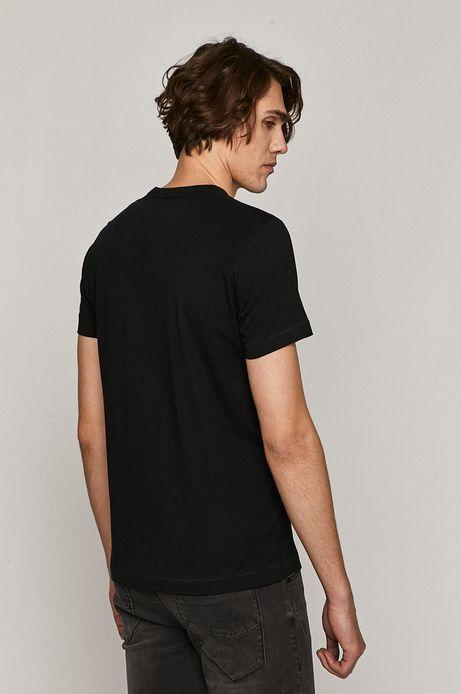 T-shirt męski z kolekcji EVIVA L'ARTE z bawełny organicznej czarny