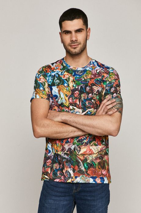 T-shirt męski z bawełny organicznej z kolekcji EVIVA L'ARTE