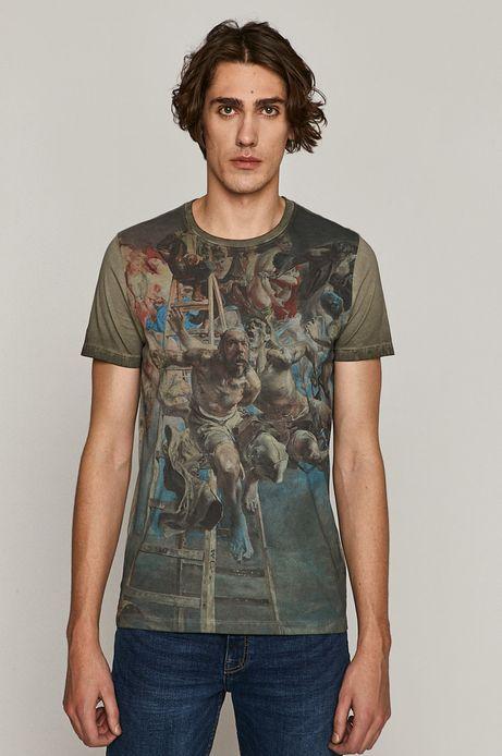 T-shirt męski z kolekcji EVIVA L'ARTE szary