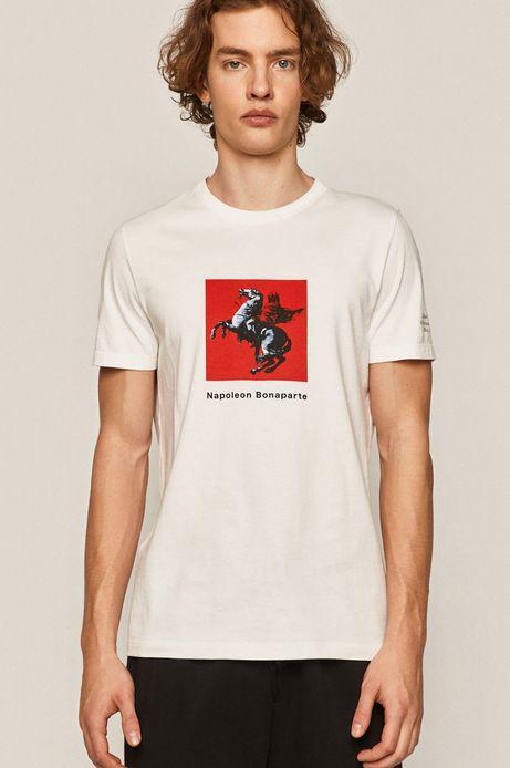 T-shirt męski z bawełny organicznej Banksy's Graffiti biały