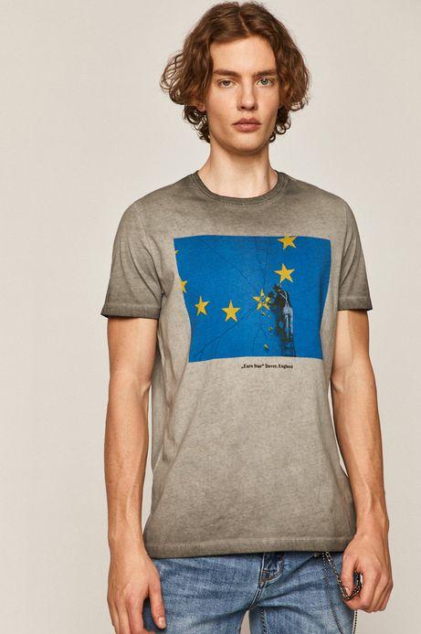 T-shirt męski Banksy's Graffiti szary
