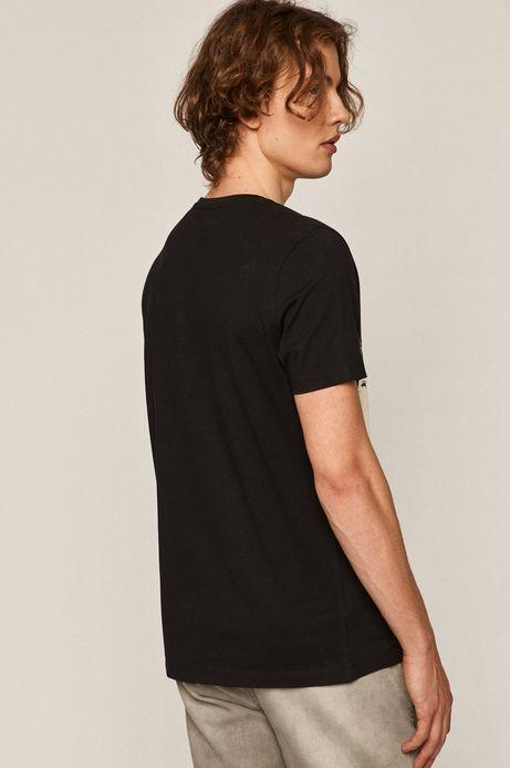 T-shirt męski z bawełny organicznej Banksy's Graffiti czarny