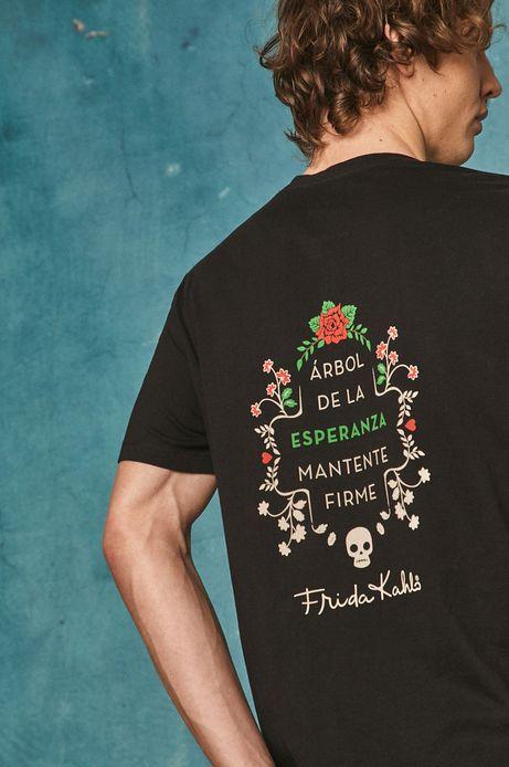T-shirt męski Frida Kahlo czarny