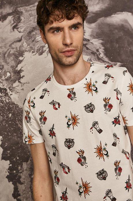 T-shirt męski by Mojkaink, Tattoo Art biały