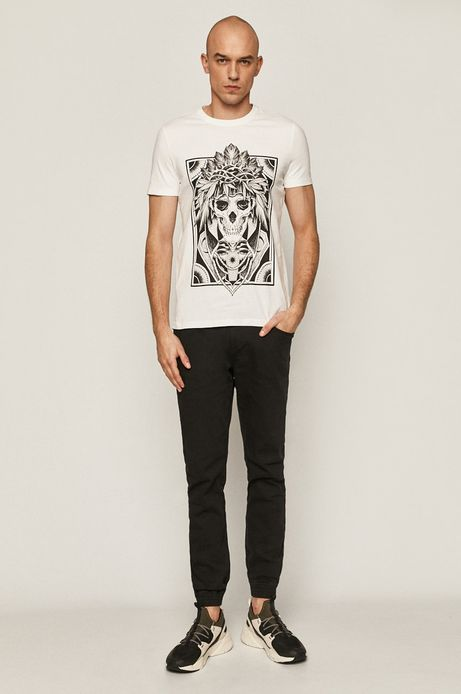 T-shirt męski by Katarzyna Piątkowska, Tattoo Art biały