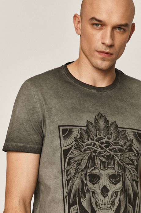 T-shirt męski by Katarzyna Piątkowska, Tattoo Art szary