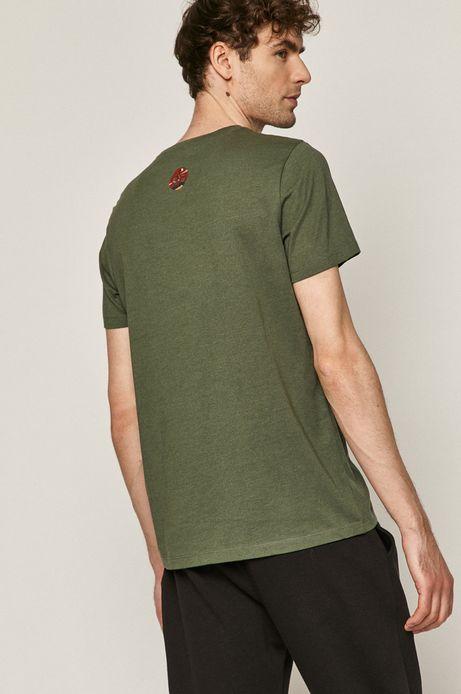 T-shirt męski z nadrukiem zielony