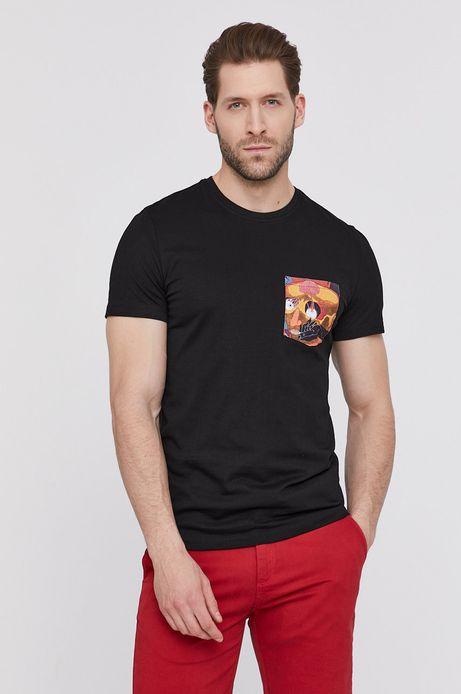 T-shirt męski by Magdalena Parfieniuk czarny