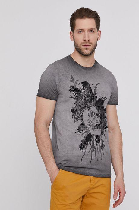 T-shirt męski by Magdalena Parfieniuk szary