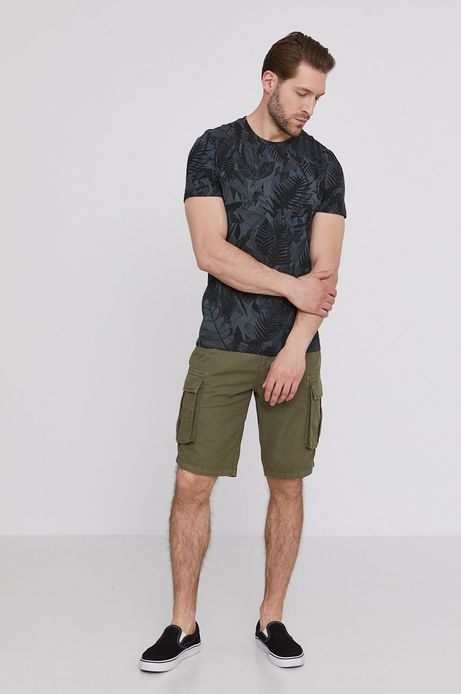 T-shirt męski z bawełny organicznej by Magdalena Parfieniuk zielony