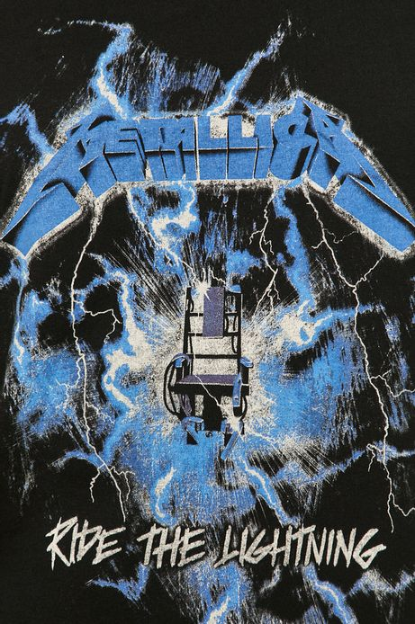 T-shirt męski z nadrukiem Metallica czarny