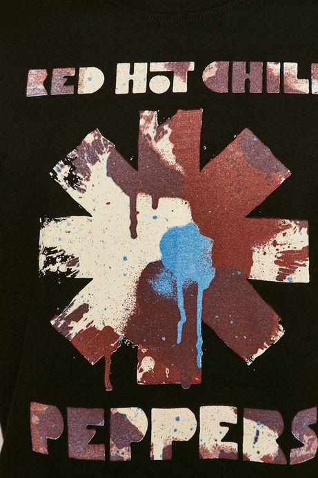 T-shirt męski z nadrukiem Red Hot Chili Peppers czarny