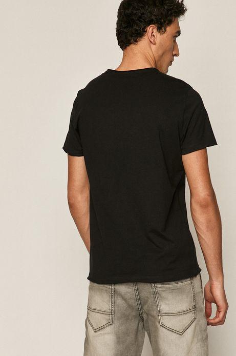 T-shirt męski z nadrukiem Led Zeppelin czarny