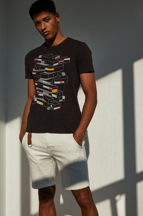 T-shirt męski z bawełny organicznej by Bartek Bojarczuk szary