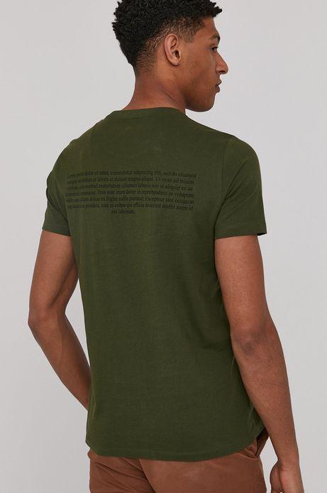 T-shirt męski z bawełny organicznej by Bartek Bojarczuk zielony