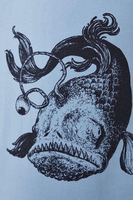 T-shirt męski z bawełny organicznej by Dawid Bacewicz, Grafika Polska czarny