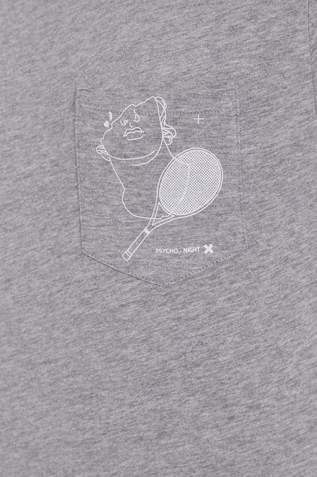 T-shirt męski z bawełny organicznej szary