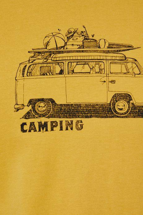 T-shirt męski z bawełny organicznej zółty