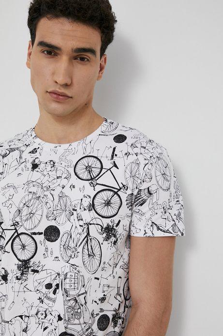 T-shirt męski z bawełny organicznej biały