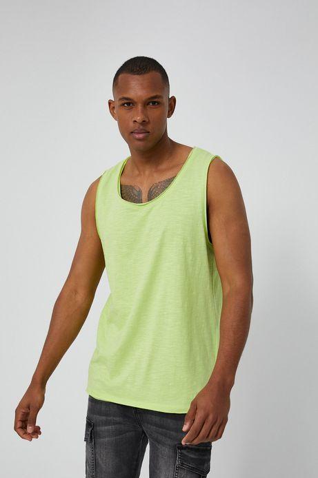T-shirt męski bez rękawów zielony