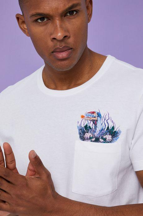 T-shirt męski by Alek Morawski biały