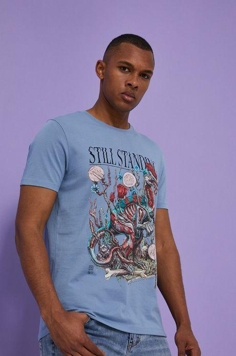 T-shirt męski by Alek Morawski niebieski