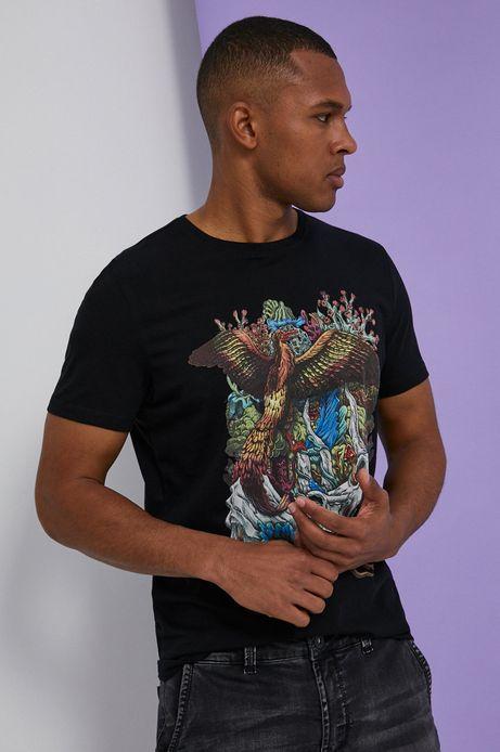 T-shirt męski by Alek Morawski czarny