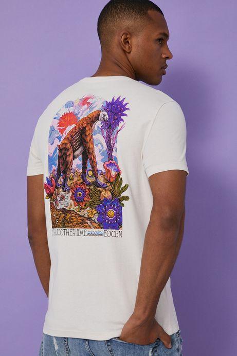 T-shirt męski z bawełny organicznej by Alek Morawski beżowy