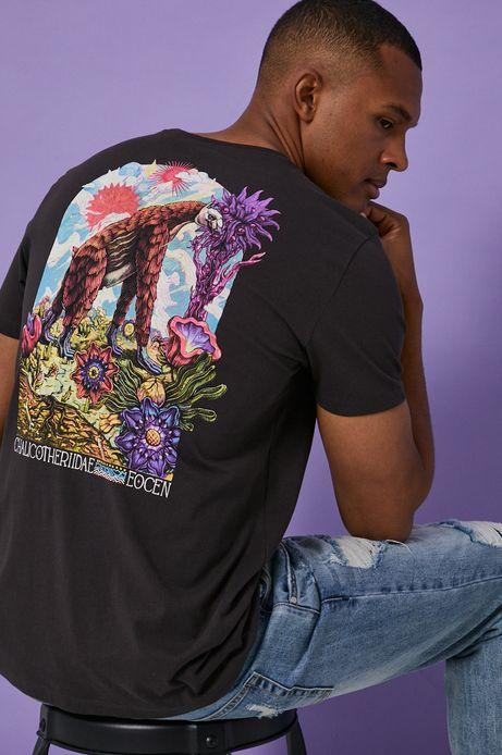 T-shirt męski z bawełny organicznej by Alek Morawski szary