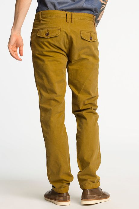 Spodnie Cambridge żółte