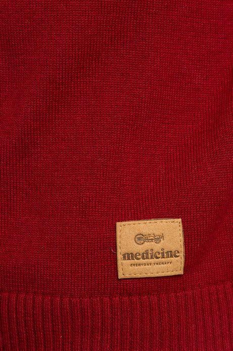 Sweter Baker St czerwony