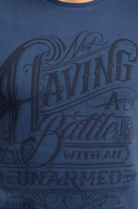 T-shirt Witczak granatowy
