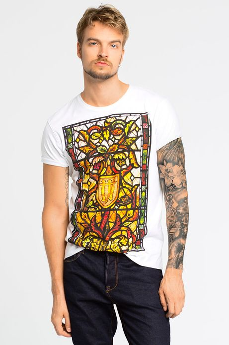 T-shirt Iconic biały
