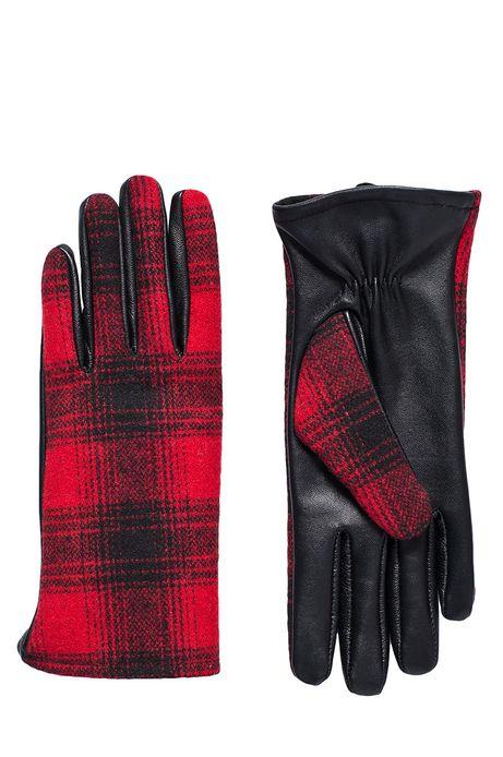 Rękawiczki Bohemian czerwone
