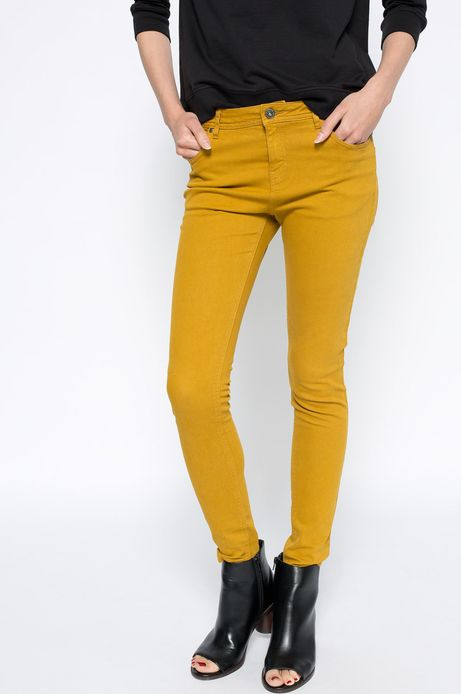 Spodnie Heritage żółte