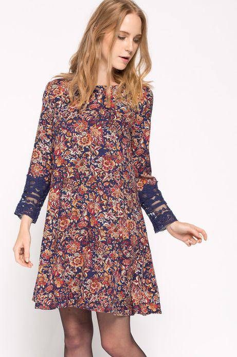 Sukienka Bohemian granatowa